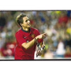 Signed photo of Adnan Januzaj the Manchester United footballer.