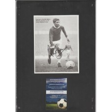 Signed picture of Alan Ball the Everton footballer.