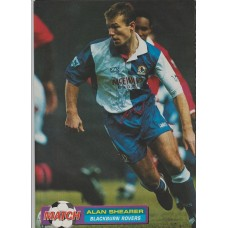 Signed picture of Alan Shearer the Blackburn Rovers footballer.