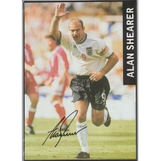 Signed picture of Alan Shearer the England footballer.