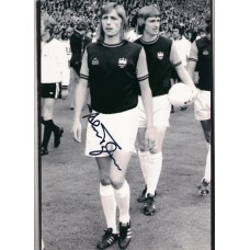 Signed photo of Alan Taylor the West Ham United footballer.