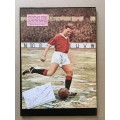 Unsigned picture & signed card of Albert Quixall the Manchester United footballer.