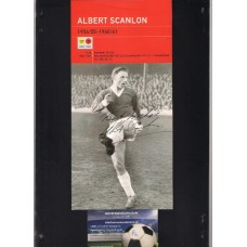 Signed picture of Albert Scanlon Busby Babe and Manchester United footballer.