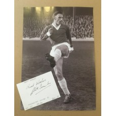 Signed card of Albert Scanlon (plus Image) the Manchester United footballer.