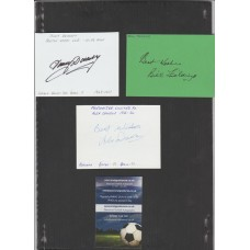 Signed card of TOMMY DOCHERTY the MANCHESTER UNITED manager.
