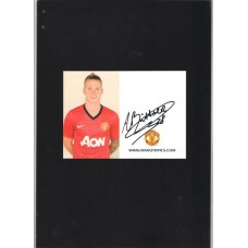 Official Manchester United photocard signed by Alexander Buttner