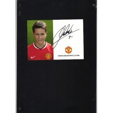Signed Ander Herrera Manchester United photo card