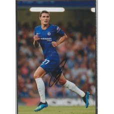 Signed photo of Andreas Christensen the Chelsea footballer.