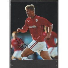 Signed photo of Andreas Cornelius the Cardiff City footballer.