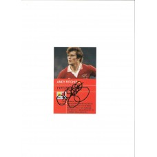 SALE: Signed picture of the former Manchester United footballer Andy Ritchie.