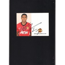 Signed official Manchester United card of Antonio Valencia