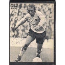 Signed picture of Archie Gemmill the Derby County footballer.