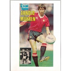 Signed picture of Arnold Muhren the Manchester United footballer