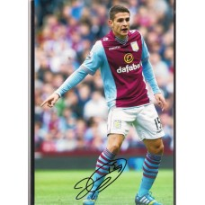 Signed photo of Ashley Westwood the Aston Villa footballer.
