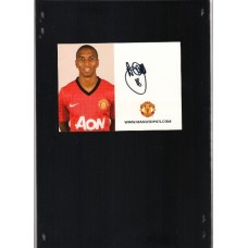 Signed Manchester United Photo Card of Ashley Young .