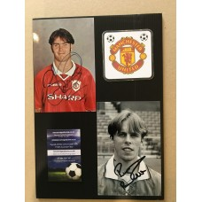 Signed photos of Russell Beardsmore & Ben Thornley the Manchester United footballers
