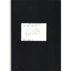 Footballer Bill Perry signed plain card