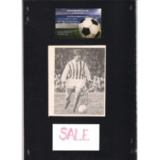 Signed picture of Bobby Hope the West Bromwich Albion footballer.