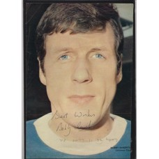 Autograph of Bobby Roberts the Leicester City footballer.