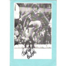 Brian Kidd A4 signed copy picture