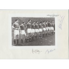 BUSBY BABES - MAN UNITED last line up multi signed picture