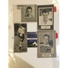 Signed picture of Billy Bingham the Luton Town footballer.