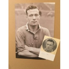 Signed picture of Charlie Mitten (plus larger Image) the Manchester United footballer.