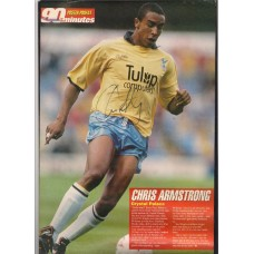 Signed picture of Chris Armstrong the Crystal Palace footballer.