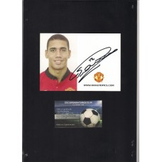 Chris Smalling signed official Manchester United photocard