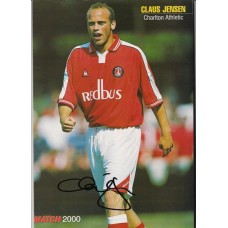 Autographed of Claus Jensen the Charlton Athletic Footballer.
