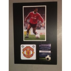 Signed picture of Clayton Blackmore the Manchester United footballer.