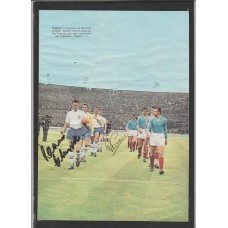Signed picture of Ronnie Clayton and Peter Swan the England footballers