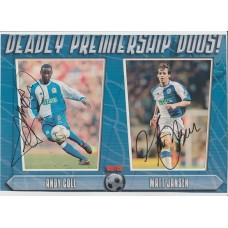Signed picture of Andy Cole & Matt Jansen the Blackburn Rovers Footballers.