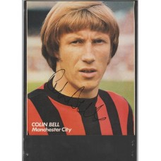 Signed picture of Colin Bell the Manchester City footballer.