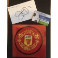 Signed card by Danny Webber the Manchester United footballer