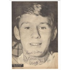 Signed portrait of former Manchester City footballer Dave Wagstaffe.