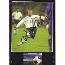 Signed picture of England & Manchester United footballer David Beckham.