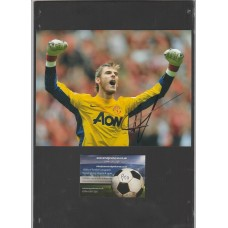 SALE: Signed photo of David De Gea the Manchester United footballer.
