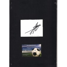 Signed white card by David De Gea the Manchester United footballer