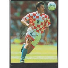Signed picture of Davor Šuker the Croatia footballer.