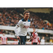 Signed photo of Dele Alli the Tottenham Hotspur footballer.