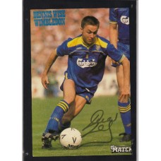 Signed picture of Dennis Wise the Wimbledon footballer.