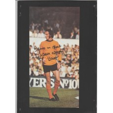 Signed picture of Derek Dougan the Wolverhampton Wonderers footballer.