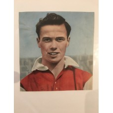 Signed picture of Derek Tapscott the Arsenal footballer.