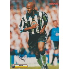 Signed picture of Didier Domi the Newcastle United footballer