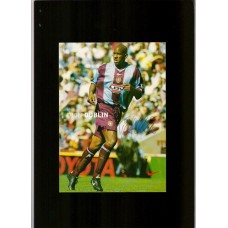 Sponsor card signed by Aston Villa footballer Dion Dublin