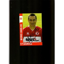 Middlesbrough football club card signed by Doriva