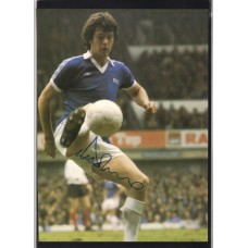 Signed picture of Duncan McKenzie the Everton footballer.