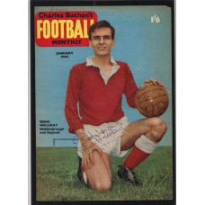 Autographed picture of Middlesbrough footballer Eddie Holliday.