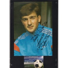 Signed picture of Eddie Niedzwiecki the Chelsea footballer.
